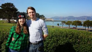 Traci and Dorian with Golden Gate in background