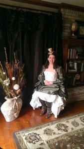 steampunk Victorian bride before wedding