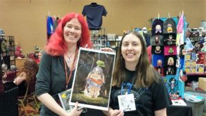 Fantasy Authors Calandra Usher and Traci Loudin at ConCarolinas