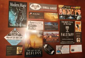 Bookmarks and Author Swag from ConCarolinas 2016