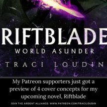 Riftblade World Asunder - my Patreon supports got a sneak peek at the cover design concepts